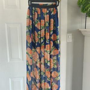 H&M Floral Maxi Skirt